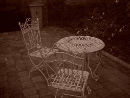 Table, chairs n outdoors by ashlee7307
