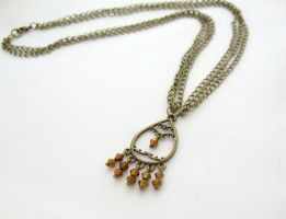 Brass Plated Necklace by MoonlightCraft