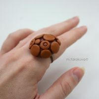 terracote ring by WhiteSquaw