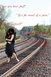 .Playing on the train tracks. by Not4Killing