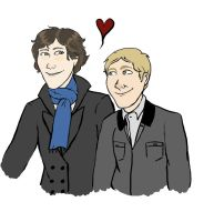 Sherlock And John by not-just-an-acrobat