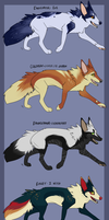 Fox Adoptables~ by Tazzil