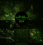 Textures pack #19 - The Old Green Galaxy by lune-blanche