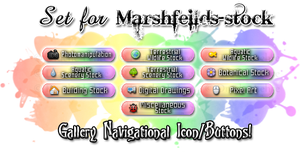 Gallery Navigate Icon Set - Marshfeilds-stock by Drache-Lehre