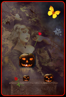 Girl  Witch  And Pum  and  autumn  nites by rochele10