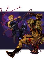 Hawkeye Vs Sabretooth - Timothy Brown Roberto AGM by SpiderGuile