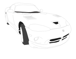 Dodge Viper Linart by Jonesycat79
