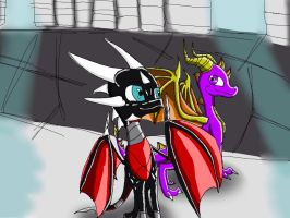 Spyro and cynder by CynderWa