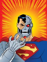 DC Super Heroes: Cyborg Superman by TimLevins