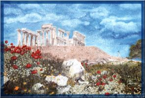 ...view on old greek temple... by floriaiglenoir