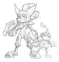 Ratchett and Clank by mikebowden