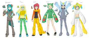 my gijinka team by B4CKBONE