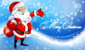 Merry Christmas Santa Wallpaper by Andycoco