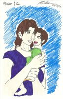 Mother and Son by BlueWolfRanger95