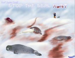 STOP the  inhumane Seal Hunt by kurisutaru