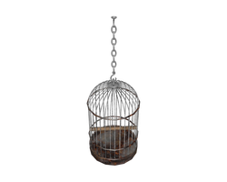 hanging birdcage 3d png by madetobeunique