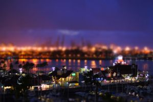 Night at Long Beach by Meernebel
