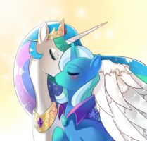 Princess celestia and Trixie by freedomthai