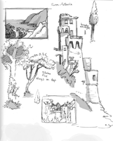 Italy sketches landscapes by madDolphin