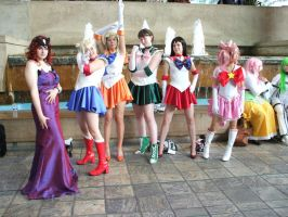sailor senshis in a row by jpop52