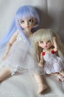 Lluvia and Crystal by Dynamene-Dolls