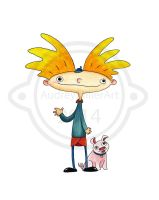 Hey Arnold and Abner by AudreyMillerArt