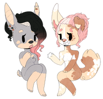Fawn and Duchess ~ Chibies by supichu