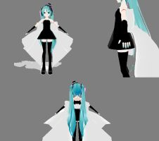 MMD newcomer lat magnet miku.2 by midnighthinata