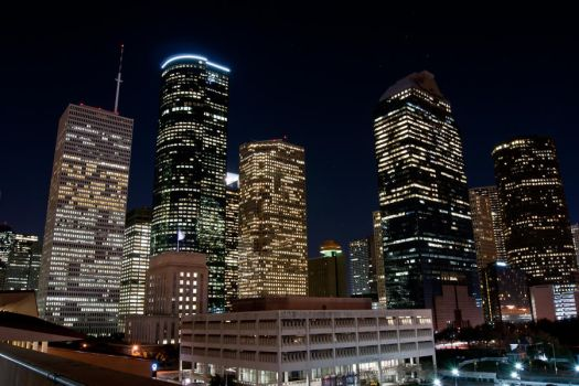 Houston Skyline at Night by hhjr