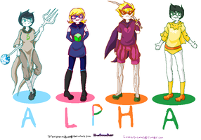The Homestuck Alpha Kids by IronSteamSheep