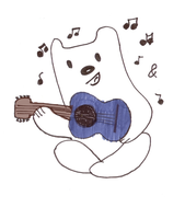 Ukulele Playin' Polar Bear by PEWPEWGoesTheLazer