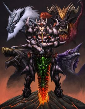 MONSTER HUNTER the elders by Chaos-Draco