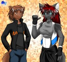 Another friends couple by Otakuwolf