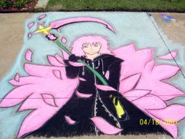 Marluxia in Chalk by iwantmyanime