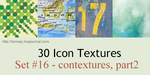30 icon textures - contextures, part 21 (set#16) by larmay