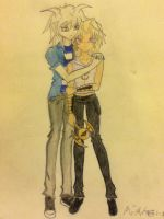 Marik and Bakura - Request for Gummybearrave by marbearcarebear