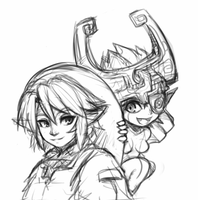Link and Midna by CheloStracks