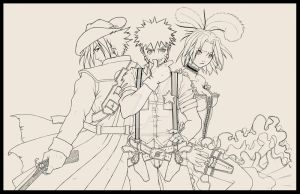 0o-Naruto_WildWest_LineArt-o0 by silverteahouse