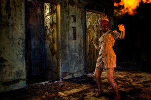 Retarded Silent Hill - Nurse by jnalye