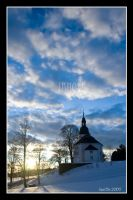 Jevnaker Church Sunset by joscon29