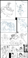 Sketchdump 9-1-2014 by DarkKitsunegirl