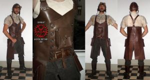 Leather Vest by Steam-HeART