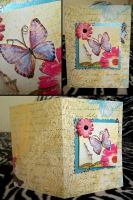 Card: Flower and butterfly by Misty-AnGel