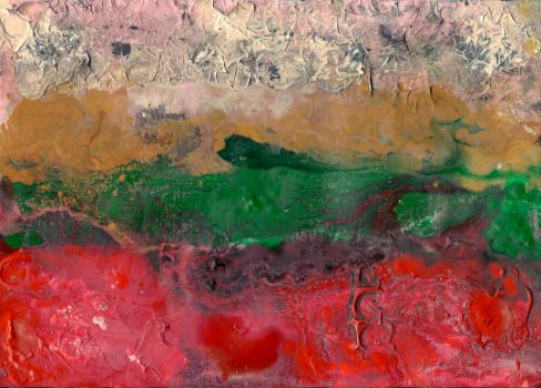 abstract rain: between red ground and pink sky by kyri-IS-dark