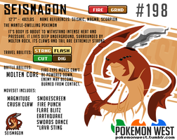 #198 Seismagon by pokemonwest
