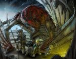 Campin With A Dragon by ZipDraw