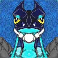 Pokemon X and Y : Frogadier by dragonfire53511
