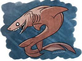 shark week day4- FRILLED SHARK by unbadger