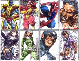 marvel cards by acts2028
