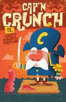 Cap'n Crunch vs Soggy Squid by MattKaufenberg